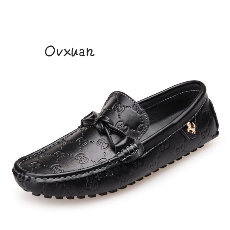 Ovxuan Men Loafers Genuine Leather Handmade Luxury Brand Men Shoes Party Wedding Dress Casual Shoes Gold Horse Buckle Man Flats ovxuan metal skull buckle handmade men ankle shoes punk party dress loafers glitter bright sequins men flats casual rivets shoes