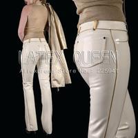 Привлекательные резиновые брюки тяжелый латекс 0.6 мм толщина Для женщин джинсы