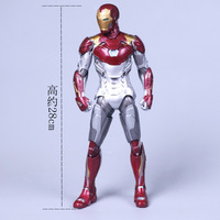 Spider Man Homecoming Iron Man MK47 PVC Figure Collectible Model Toy With Retail Box 28CM