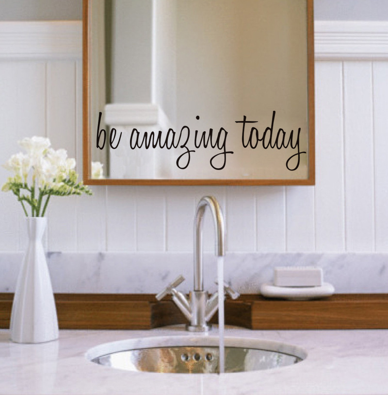 Bathroom Mirror Stickers popular wall sticker quote mirror-buy cheap wall sticker quote