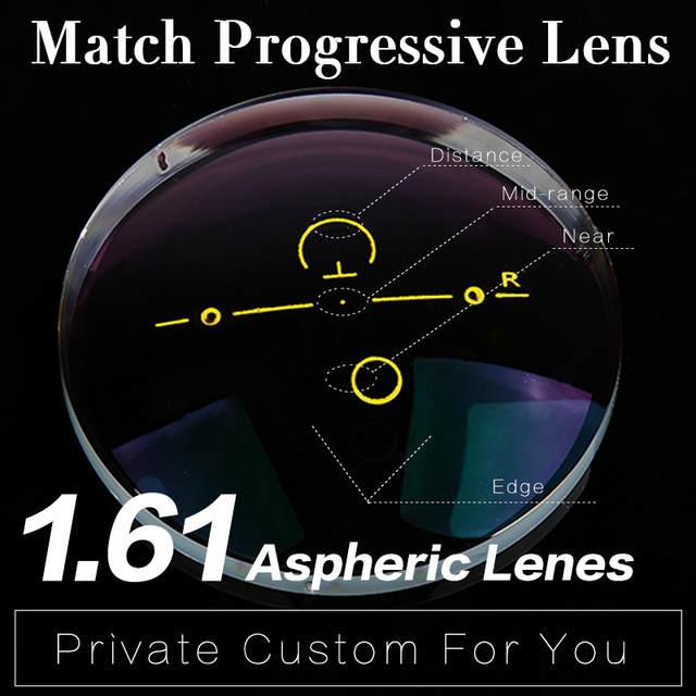 0876ba6b09b Online Shop 1.61 Super-Tough Digital Free Form Progressive No-Line  Multi-Focal Prescription Customized Optical Lenses With AR Coating