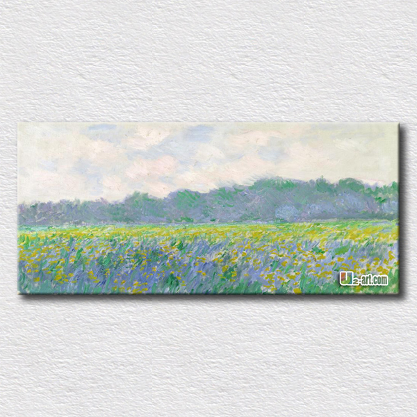 Field of Tulips in Holland by Claude Monet high quality arts hang on the living room hot sell pictures gift