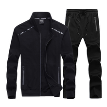 2019 Autumn Mens Clothing Sets Causal Sporting Suit Long Sleeve Sportswear+Pants Fashion Tracksuit Mens Size цена