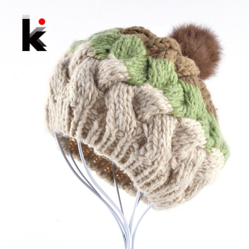 ᐃ2018 moda invierno mujer Floppy sombrero tapa boina femenina ...