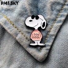 DMLSKY Cartoon Dog Funny Metal Enamel Pins for Women Men Backpack Badge Tie Jewelry Gift Fashion Brooch M3233