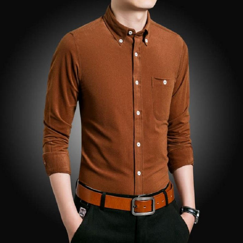 2018 ECTIC NEW Long sleeve shirt, male youth business casual shirt. Fashionable and comfortable men's shirts G25635