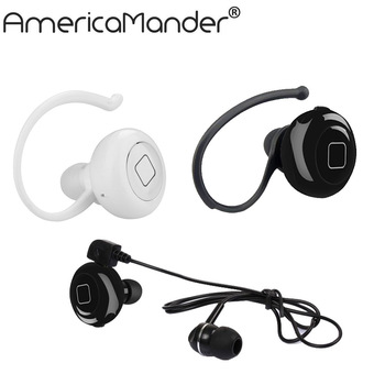 10PCS/lot dual Mini Style Wireless Bluetooth Earphone V4.1 Sport Headphone Phone Headset With Micro For Iphone Mobile Phone PC