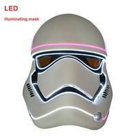 Halloween Star Wars Mask LED Light Helmet Empire Clone White Soldiers Luminous Mask PVC Darth Vader Christmas LED Masks