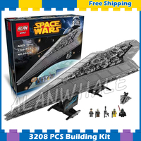 3208pcs New Space Wars Super Star Destroyer 05028 Assemble Model Building Blocks Big Gifts Sets Bricks Compatible With Lago