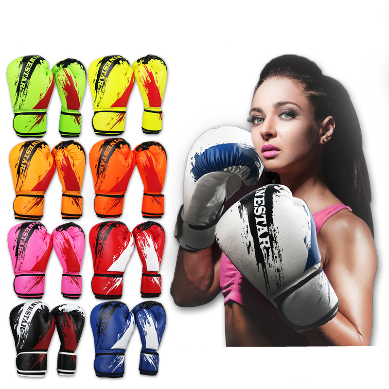 Boxing Training Gloves Muay Thai Sparring Fighting Gear Foot Targets Adult Kids