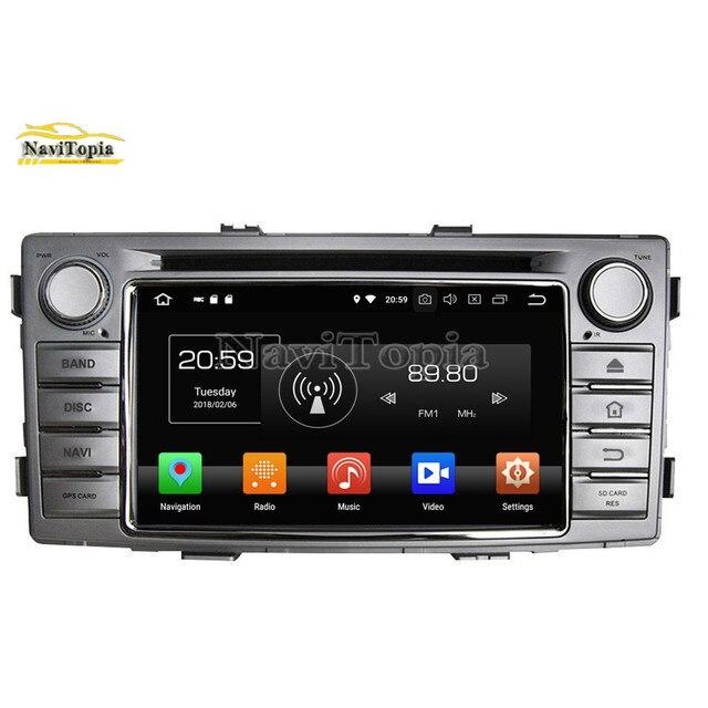 """NAVITOPIA 6.2 """"4G + 64G Octa Núcleo Android 9.0 Carro Estéreo de Rádio Para Toyota Hilux 2012 Car DVD + GPS Navigation + Bluetooth + Ligação Espelho"""