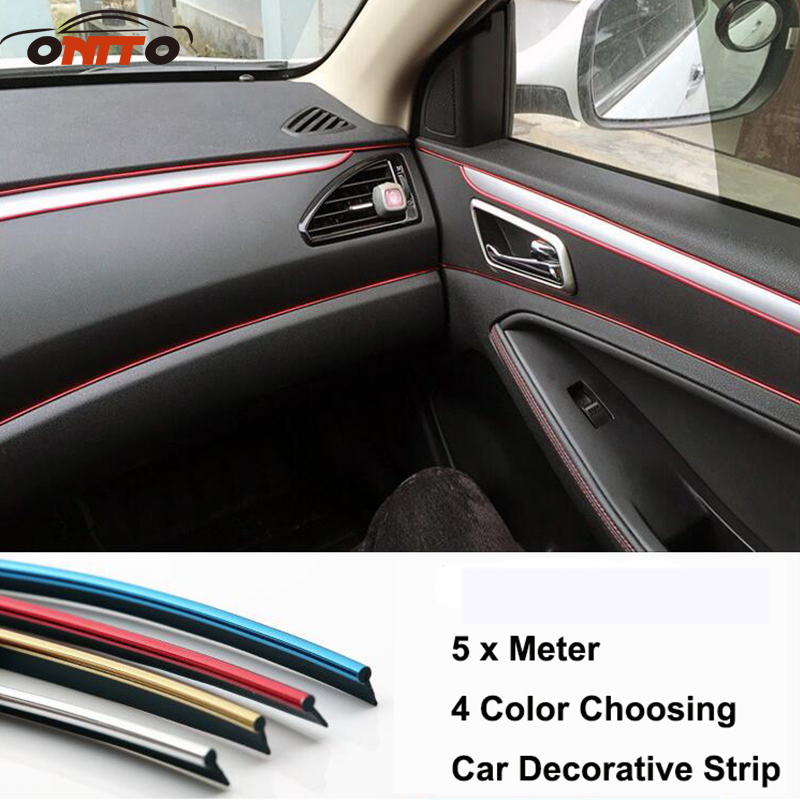 for car styling PVC 5 Meter decoration strip decorative tape dash panel trim strip automotive for A3/A4/A5/A6/A7/A8/Q1/Q3/Q5/Q7