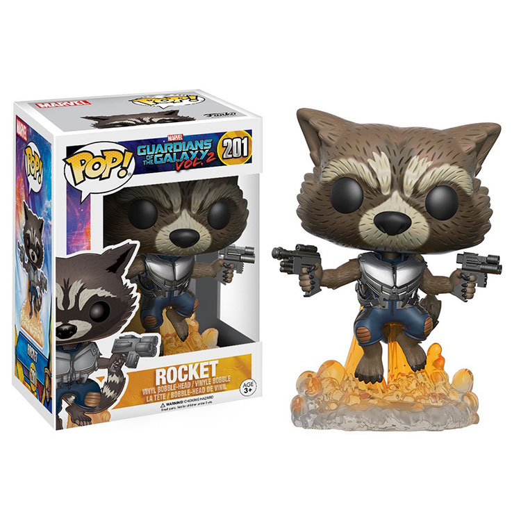 Funko pop Movie:Guardians of The Galaxy 2 - ROCKET Vinyl Figure Collectible Model Toy with Original Box official funko pop marvel x men logan wolverine vinyl action figure collectible model toy with original box
