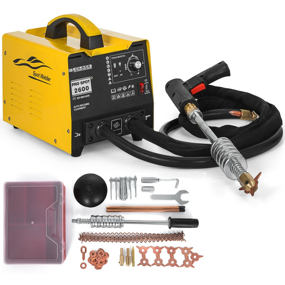 Yellow Multispot GYSpot 2600 Spot Puller Bonnet Dent Repair Spot Welder