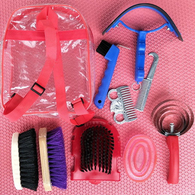 Horse Cleaning Tool Dusting Brush Head Dust Horse Body Clean Equestrian Horse Riding Cheval Racing Equipment Paardensport C