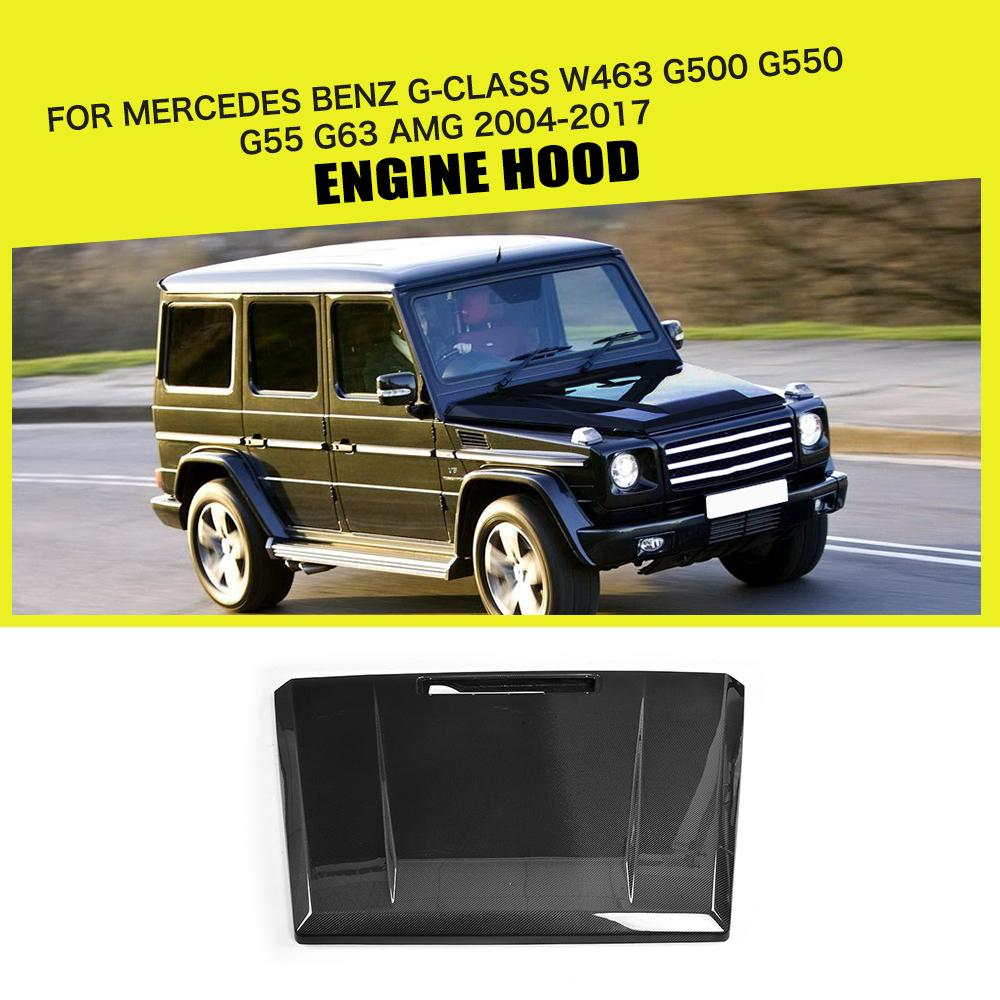 Carbon Fiber Auto Front Engine Hood Cover Trims for Mercedes Benz G-CLASS W463 G500 G550 G55 G63 AMG SUV 2004 - 2017 Car Styling Mercedes-Benz A-класс