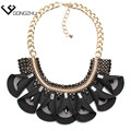 New Design Retro Bohemia necklace 3 classic color crystal flower choker Statement Necklace Fashion Jewelry Women Necklace