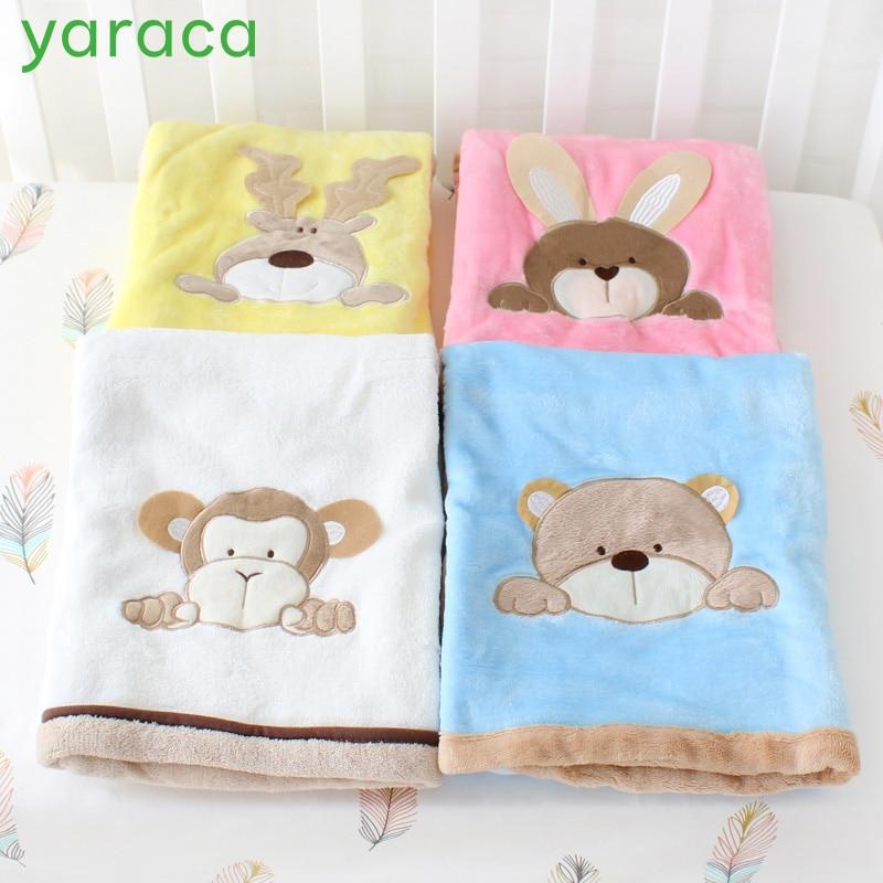 Baby Blanket For Newborns Gift Infant Crib Bedding For Boy Girl Super Soft Fleece Blanket for Baby Stroller Size 76x102cm