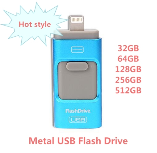 IOS 10 2016 For iphone OTG Usb Flash Drive Pen drive for iphone storage usb stick pendrive 5 5S 6 6S 32GB 64GB 128GB 256GB 512GB