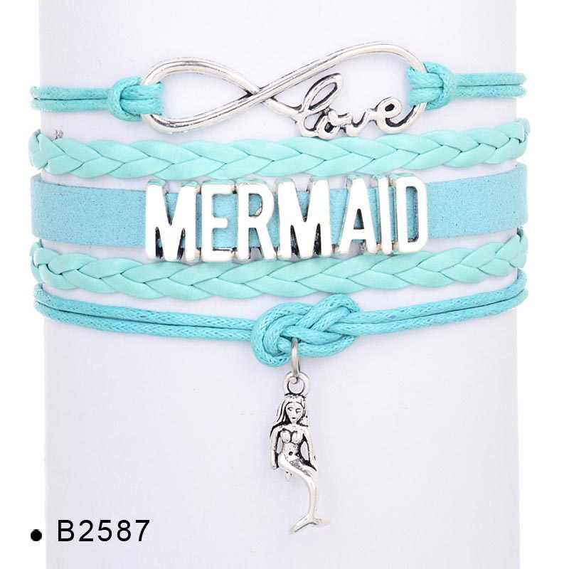 High Quality Honeymoon Beach Summer Vacation Wedding Engagement Ocean Fish Seahorse Mermaid Dolphins Charm Bracelets for Women