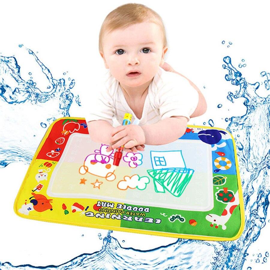 Лидер продаж Новые Полезные для маленьких детей 4 цвета воды Рисунок Живопись мат плате & Magic Pen Doodle Kids игрушка в подарок 46X30 см