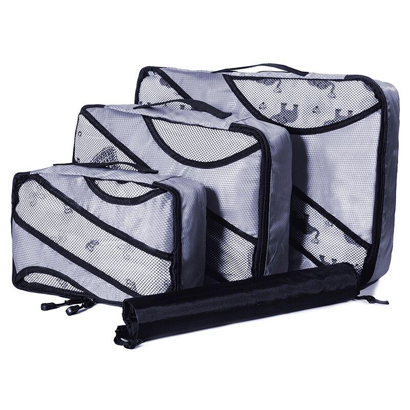 QIUYIN Hand Luggage Clothing Sorting Bolsa  3 Pcs/set Nylon Packing Cubes Set Travel Bag Organizer Large Capacity Bags