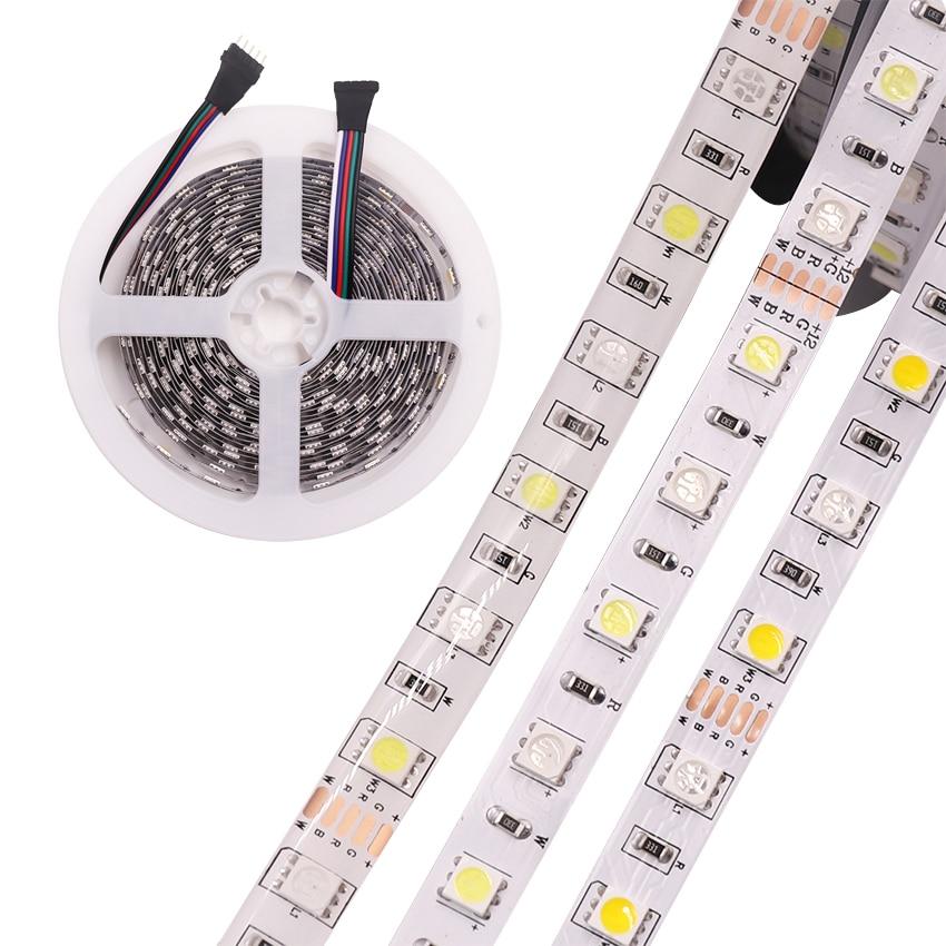 DC24V 12V 12mm10mm RGBW led strip light 5050 SMD 5M 300 led Waterproof flexible tape rope stripe light RGBWW RGB warm white dxg 004 72w waterproof 3600lm rgb 300 smd 5050 led strip light white black 5m 12v