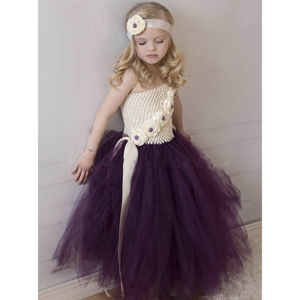 Compare prices on bridesmaid dress girl purple online shopping ivory eggplant purple flower girl tutu dress baby girls photo prop wedding stunning dresses for bridesmaid ombrellifo Gallery