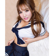 Hot Selling Sexy Japanese School Uniform Students Costume Maid Sailor Dress Striped Japanese Girl Costume