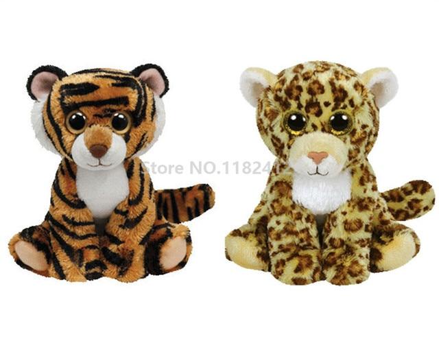 53bbc6e53df Ty Beanie Babies Stripers Tiger Spotty Leopard Plush Toy 6   15cm Cute  Stuffed Animal