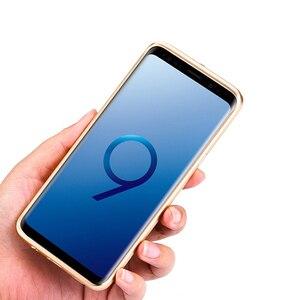Image 3 - Samsung Galaxy S9 /S8 artı durumda lüks Metal alüminyum tampon kapak karbon Fiber koruma kılıfları Samsung Galaxy s9 S8 kılıfı