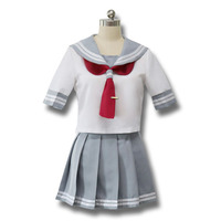 Free Shipping Japanese Anime Love Live Sunshine Cosplay Costume Takami Chika Girl Sailor Uniforms Love Live