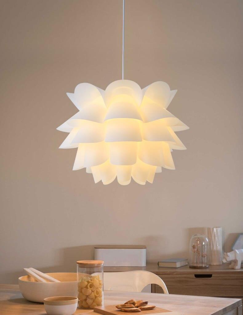 DIY Kit лотоса IQ подвесной абажур подвесная подвесной светильник для Гостиная Спальня исследование Обеденная Hotel