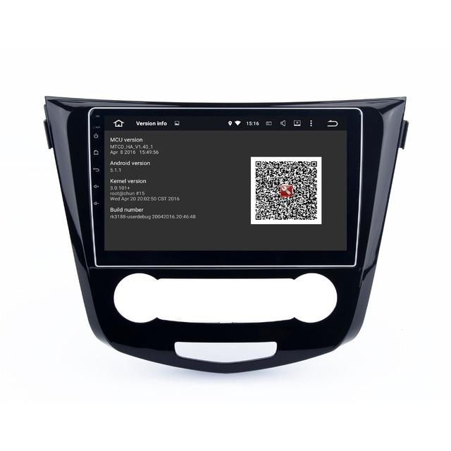 Android 5.1 Unidad Principal estéreo para Nissan Qashqai 2014 2015 permanente de radio GPS navi Radio headunit wifi gratuito mapa Cabeza dispositivo