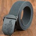 Tactical cinturón de Aleación de hebilla de cinturón de lona Militar cuerpo Ancho 3.8 CM Longitud 110/130 CM de Espesor 4 MM Diseñadores de alta calidad de la marca de moda