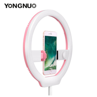 YONGNUO YN128 Photography LED Ring Light 3200K 5500K Dimmable Ring Live Video Lamp for iPhone 8/7/7plus Nikon Canon DSLR Camera