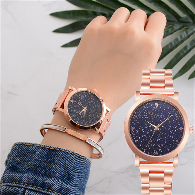 Fashion Luxury Brand Quartz Watch Women Bracelet Ladies Rose Gold Girls female s