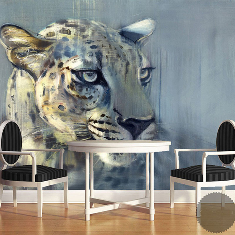 8D Papel Leopard Animal Murals 3d Animal Wallpaper Mural for Living Room Background 3d Wall Photo Murals Wall paper 3d Stickers custom photo wallpaper 3d wall murals balloon shell seagull wallpapers landscape murals wall paper for living room 3d wall mural