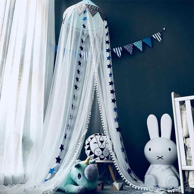 Kinderen Klamboe Baby Meisjes Jongens Slaapkamer Bed Klamboe Blauw/Roze Babykamer Decoratie Baby Netting Tent