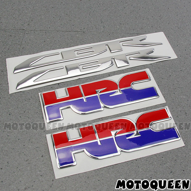 Motorcycle 3D Chrome CBR HRC LOGO Decals Fairing Stickers  For Honda HRC CBR CBR1000RR CBR650F CBR600RR CBR500R CBR300R CBR250R