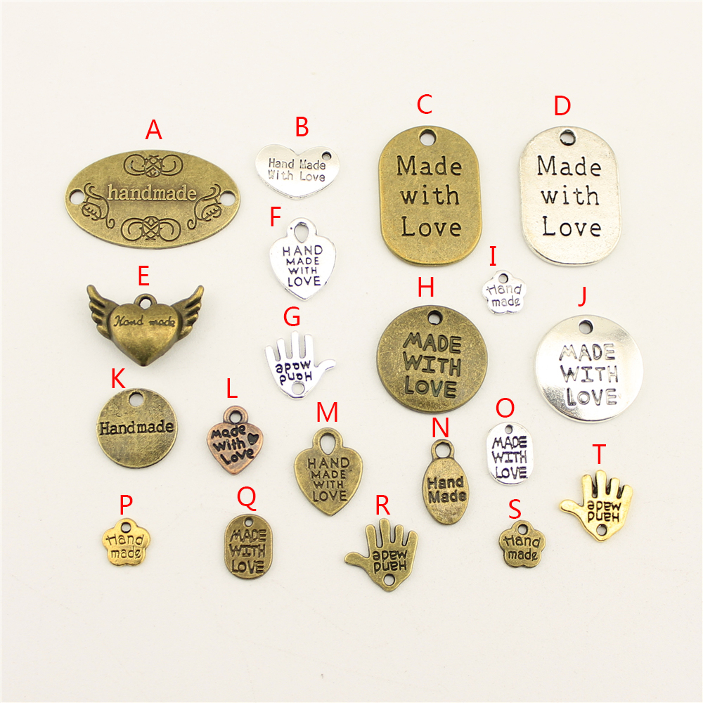 Dress Jewelry-Accessories Charms Handmade Bulk Wholesale Women HK006 20pcs Diy Backless