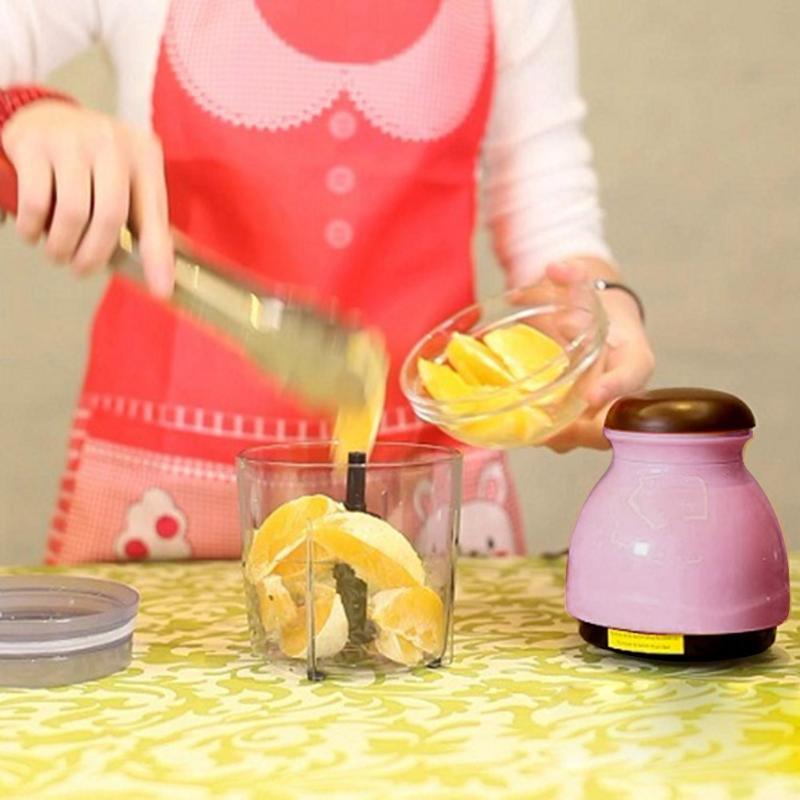 Mini Électrique Hachoir Processeur Mélangeur Mélangeur Trancheuse Grinder Juicer Fruits Légumes Mélangeur Mélangeur Trancheuse de Cuisine Outils