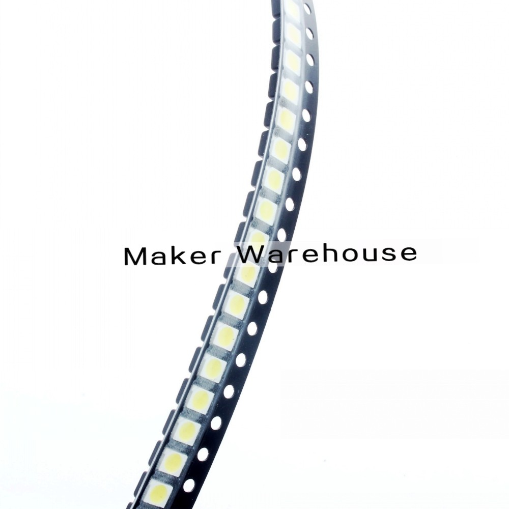 100pcs/lot <font><b>1210</b></font> 3528 <font><b>SMD</b></font> <font><b>LED</b></font> Ultra Bright White Light Diode image