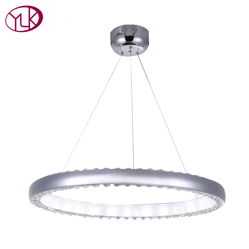 Free shipping Modern crystal led pendant light ring design home decorations lighting Fixture led lustres de cristal lamps bicycle shape led modern crystal pendant lamps unique creative latest popular style led pendant light free shipping