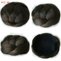 60g 10CM New Clip In Bun Hair Chignon Bun Wig Hair Ponytail Drawstring Bun Hairpieces Pony