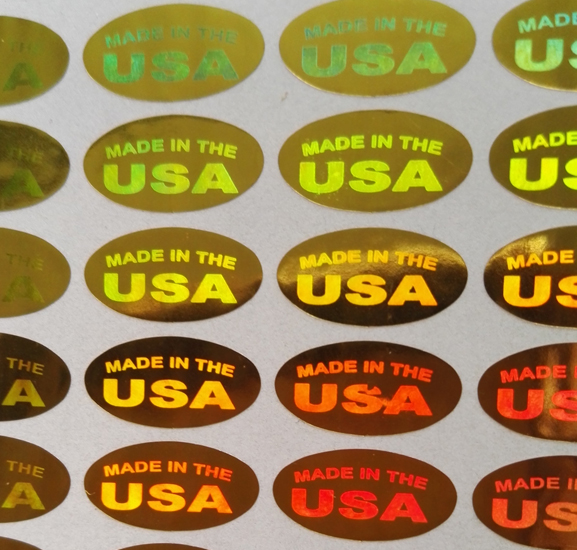 Humble 500pcs made In The Usa Silver/gold Color Holograms Seal Stickers 13x6.5mm Oval Shape Cool In Summer And Warm In Winter Stationery Stickers