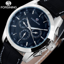 FORSINING Luxury Automatich Leather Band Date