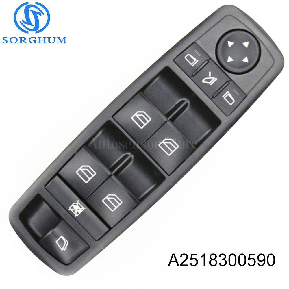 Yeni A2518300590 2518300590 elektrikli Master güç kontrol cam anahtarı Mercedes Benz için ML350 W251 X164 GL450 R350