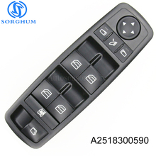 New A2518300590 2518300590 Electric Master Power Control Window Switch For Mercedes Benz ML350 W251 X164 GL450 R350 new 1999 2001 for mercedes benz ml430 electric power window master control switch 1638206610