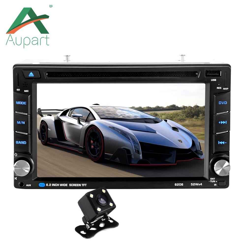 Новый 2 DIN 6.2 ''дюймовый HD ЖК-дисплей сенсорный экран автомагнитолы MP5 dvd-плеер Поддержка Bluetooth Hands Free камера заднего вида многоязычная